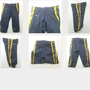 Nike Football Pants Mens Large Navy Blue Yellow